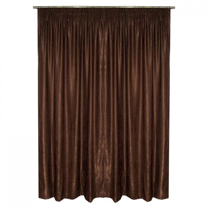 Set draperii Velaria soft maro, 2*135x245 cm 1