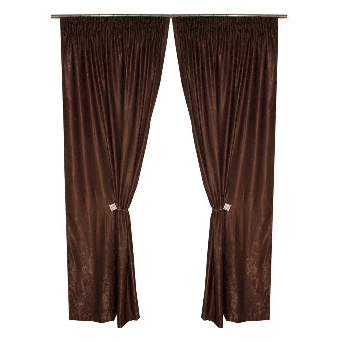 Set draperii Velaria soft maro, 2*135x245 cm 0