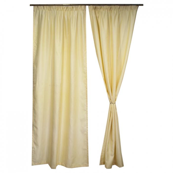 Set draperii Velaria soft unt, 2*115x245 cm 0