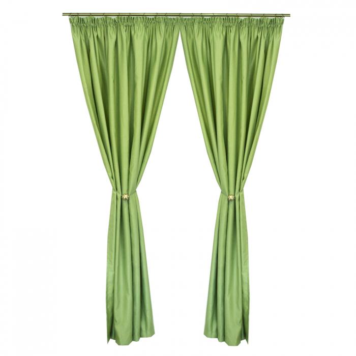 Set draperii Velaria soft verde deschis, 2*200x245 cm 0
