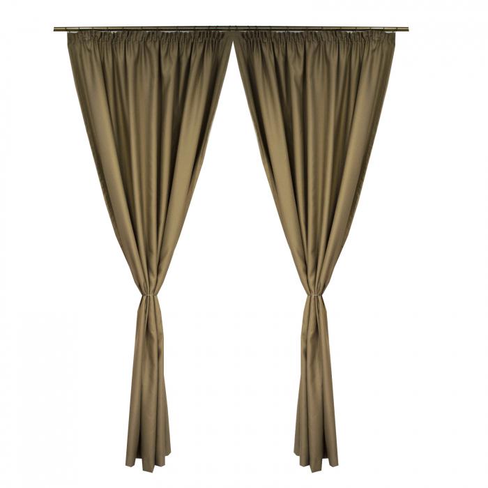 Set draperii Velaria blackout bej, 2*150x245 cm 0