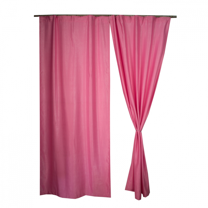 Set draperii Velaria soft roz, 2*110x245 cm 0