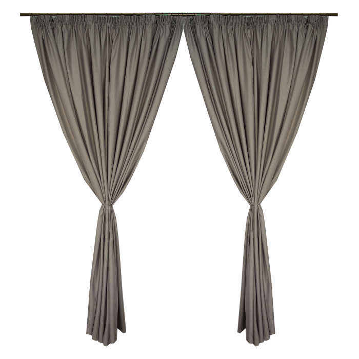 Set draperii Velaria soft gri, 2*270x245 cm 0