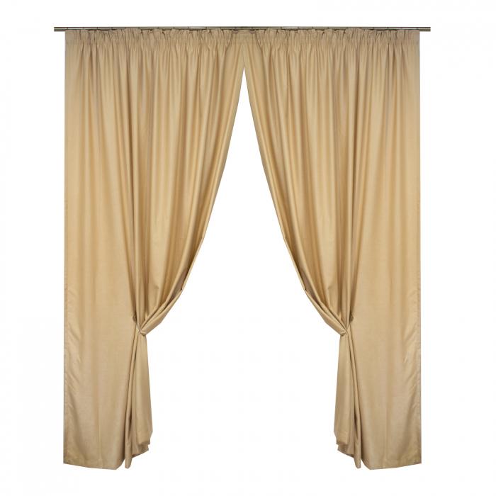 Set draperii Velaria soft grej, 2*190x245 cm 0