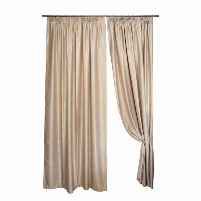 Set draperii Velaria soft grej, 2*230x235 cm [0]