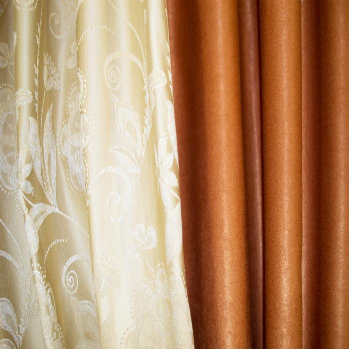 Set draperii Velaria tafta cu caramiziu, 2x160x260 cm 2
