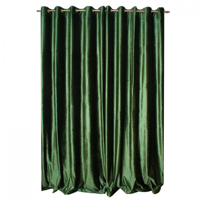 Set draperii Velaria catifea verde metalic, 2*150x270 cm 1