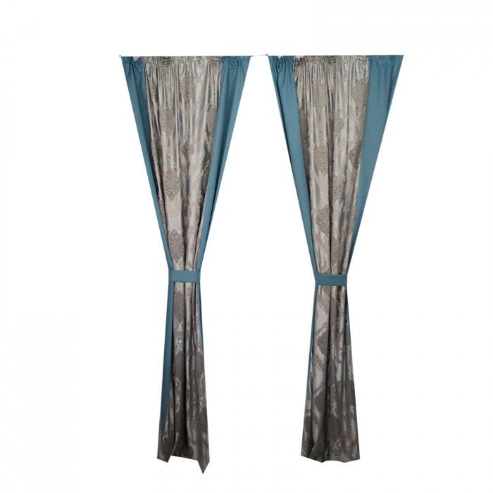 Set Draperii Velaria cu imprimeu baroc, 2*140x260 cm [3]