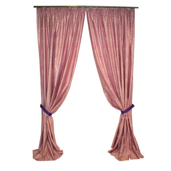 Set draperii Velaria tafta roz pictata cu rejansa, diverse dimensiuni [0]