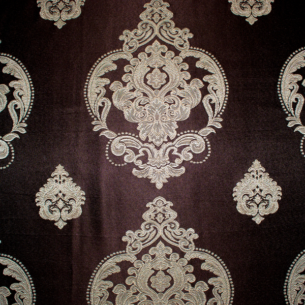 Set draperii Velaria tafta wenge cu baroc bej 1