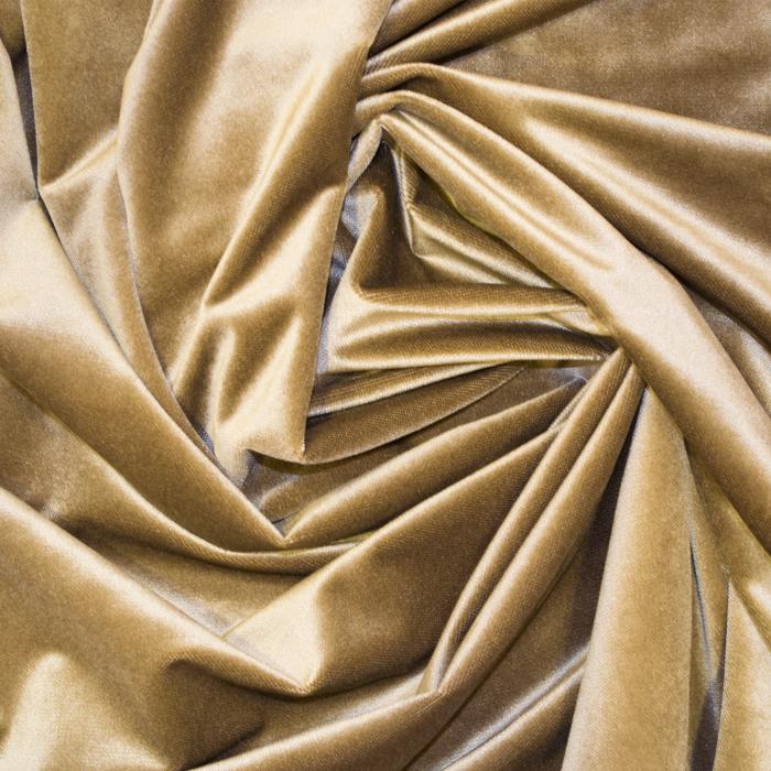 Set draperii Velaria catifea caramel cu rejansa 1