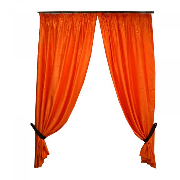 Set draperii Velaria jacard portocaliu 300x245 cm 0