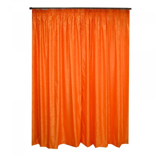 Set draperii Velaria jacard portocaliu 300x245 cm 1