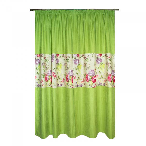 Set draperii Velaria verde crud, 2x115x235 cm 1