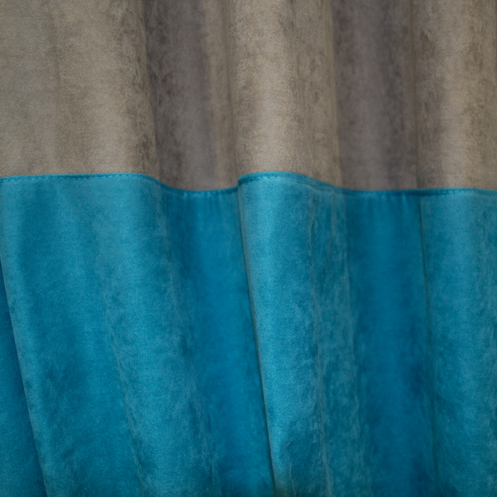 Set draperii Velaria turcoaz-gri 2