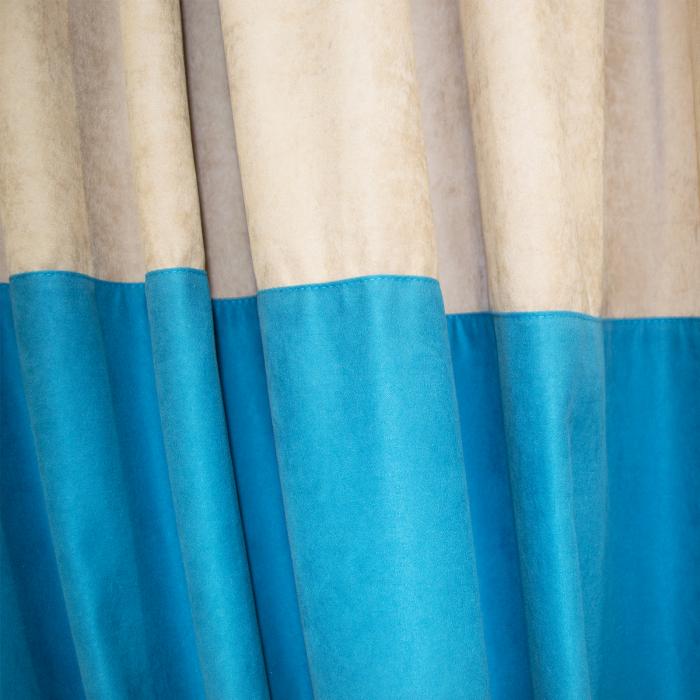 Set draperii Velaria turcoaz-bej, diverse dimensiuni 4