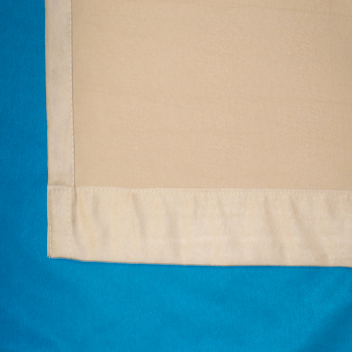 Set draperii Velaria turcoaz-bej, diverse dimensiuni 3