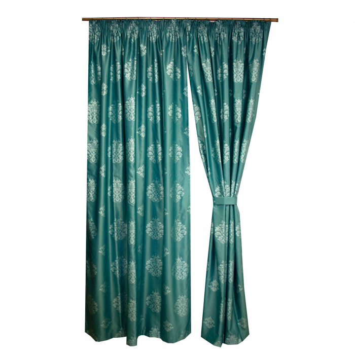 Set draperii Velaria tafta baroc turcoaz, 2*150x260 cm [1]