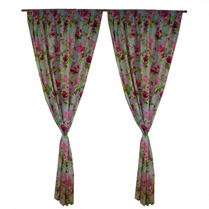 Set draperii Velaria trandafiri roz 3