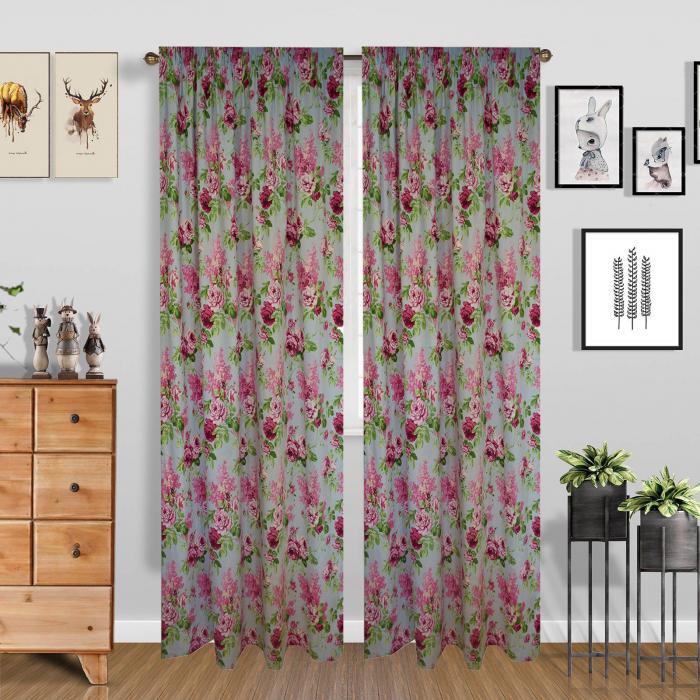 Set draperii Velaria trandafiri roz 1