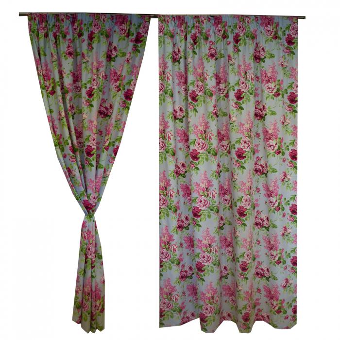 Set draperii Velaria trandafiri roz 4