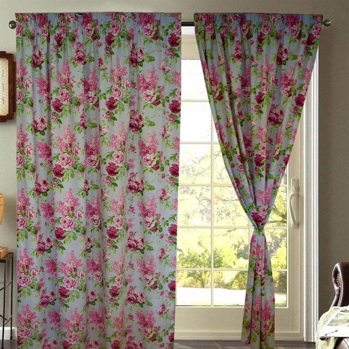 Set draperii Velaria trandafiri roz 0