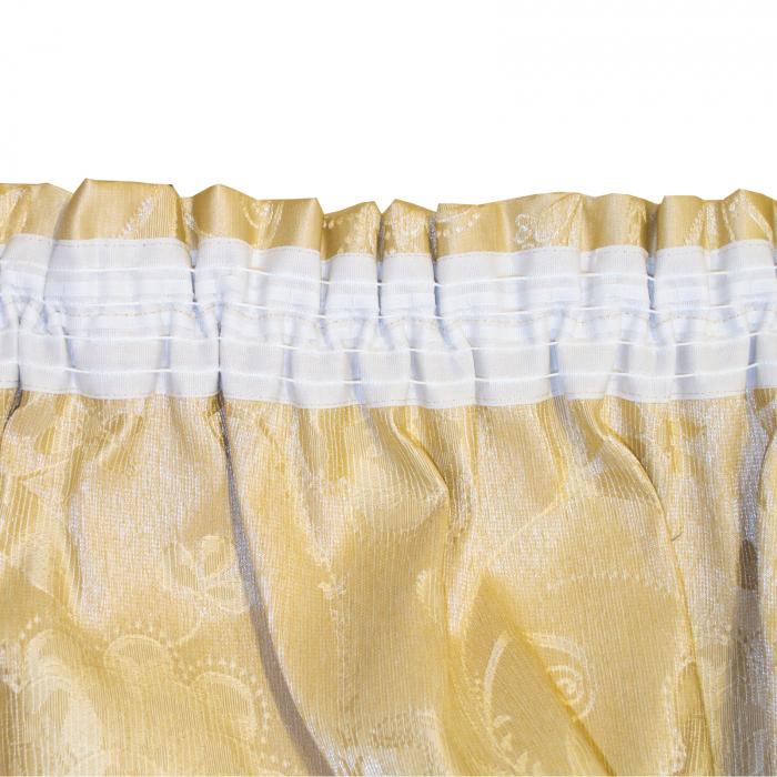 Set draperii Velaria tafta cu caramiziu, 2x160x260 cm 3