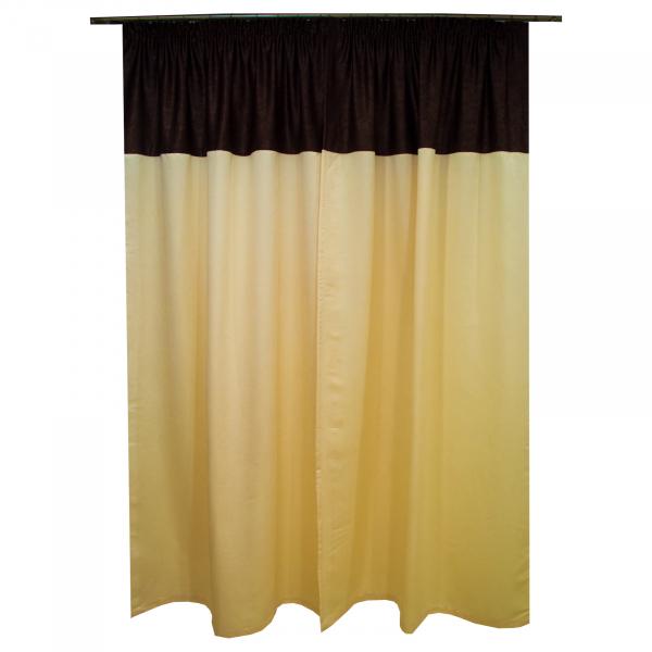 Set draperii Velaria unt cu wenge, 2x130x250 cm 1
