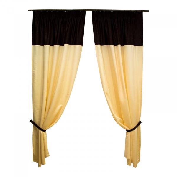Set draperii Velaria unt cu wenge, 2x130x250 cm 0