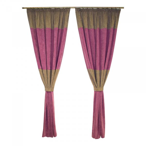 Set draperii Velaria milas mov-gri, 2x140x230 cm 0