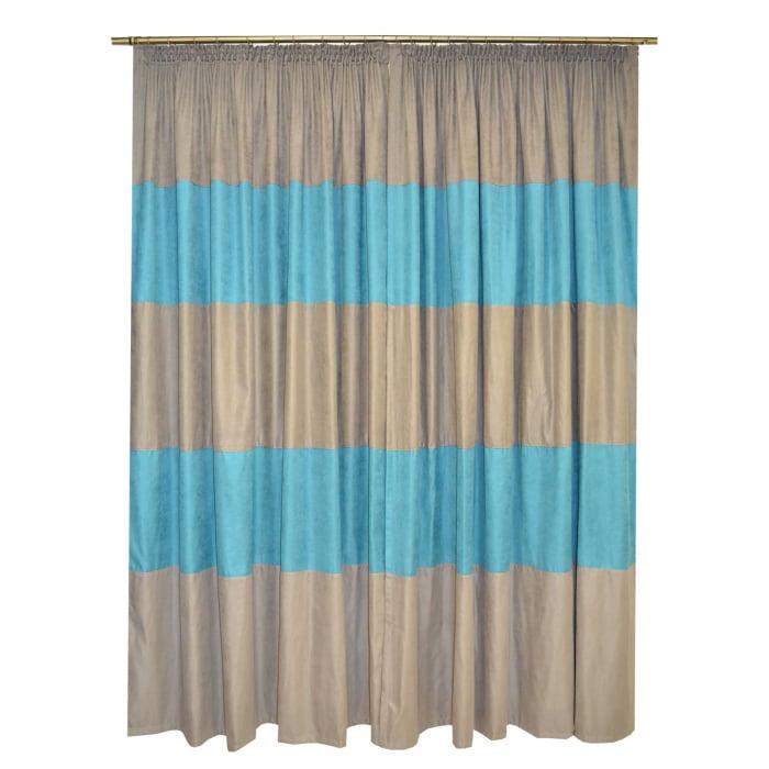 Set draperii Velaria turcoaz gri 2x200x230 cm 1