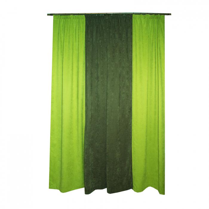 Set draperii Velaria verde-gri, 2x130x260 cm 1