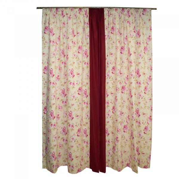 Set draperii simfonie roz, 2x150x260 cm 1