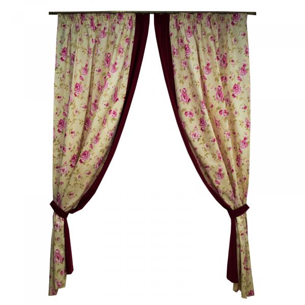 Set draperii simfonie roz, 2x150x260 cm 0
