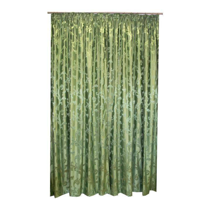 Set draperii Velaria jacard verde, 2*170x260 cm [2]