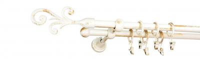 Galerie dubla culoare alb lucios patina fi161