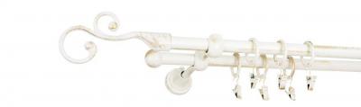 Galerie dubla culoare alb lucios patina fi162