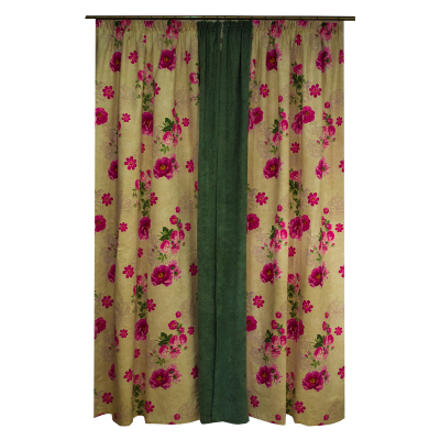 Set draperii Velaria flori siclam, 2x150x260 cm1