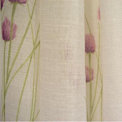 Perdea Velaria din in cu imprimeu lavanda, 190 x 170 cm [2]