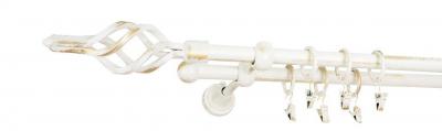 Galerie dubla culoare alb lucios patina fi168