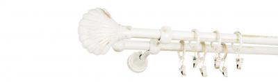 Galerie dubla culoare alb lucios patina fi169