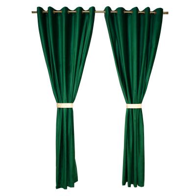 Set draperii Velaria catifea verde smarald cu capse, diverse dimensiuni0