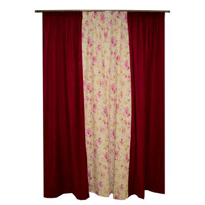 Set draperii simfonie roz, 2x150x260 cm1
