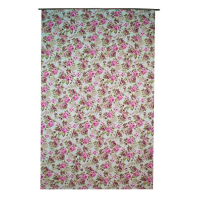 Draperie Velaria floral roz [2]