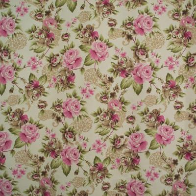 Draperie Velaria floral roz/gri, diverse dimensiuni1