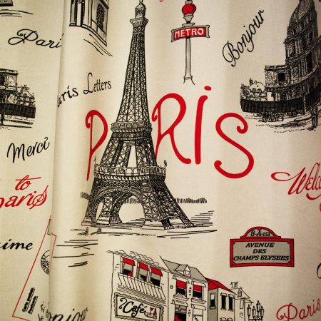 Draperie Velaria city Paris rosu0