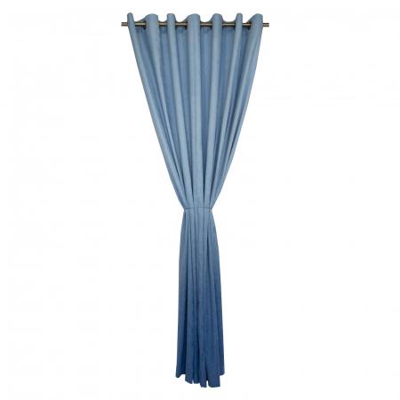 Draperie Velaria hazel degrade albastru cu capse, 220x235 cm [0]