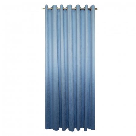 Draperie Velaria hazel degrade albastru cu capse, 220x235 cm [1]
