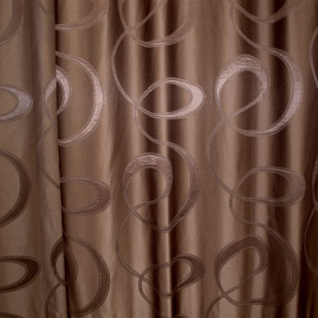 Draperie Velaria jacard wenge, 150x245 cm1