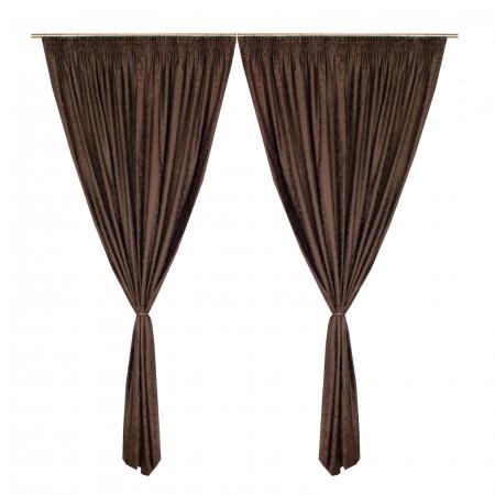 Set draperii Velaria jacard wenge, 2*190x245 cm0